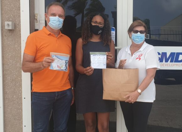 SMDF distributes over 1,500 masks to the St. Maarten community